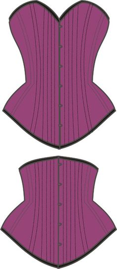 Paper sewing pattern to make a well-fitting corset with an underbust variation. Not only can you use a traditional busk (giant loops and studs) for the front closing, but you could use a separating zi