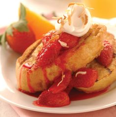 Such a good idea. Use coconut milk instead of milk or half-and-half in this Strawberry French Toast. It's a great way to make it dairy-free (if the bread is also dairy free), but you can still use half-and-half if you like.