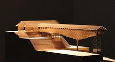 Yusuhara Wooden Bridge Museum Kochi 2011_Kengo Kuma, architectural model
