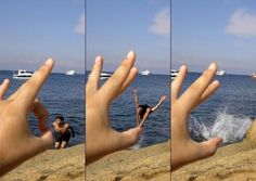 Flicking illusion || #beach #illusion