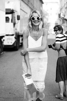 Street Style, Milan Fashion Week. La encontré en Vogue.com United States.