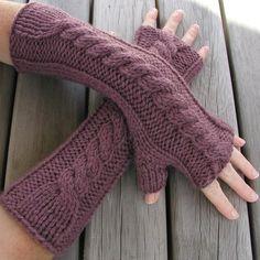 knittingandcrochet:    http://www.folksy.com/items/750637-Hand-Knitted-Fingerless-Gloves-Arm-Warmers
