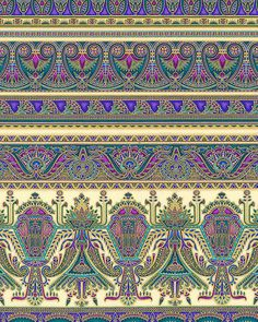 Valley of the Kings 2 - Egyptian Queen Stripe - Purple/Gold