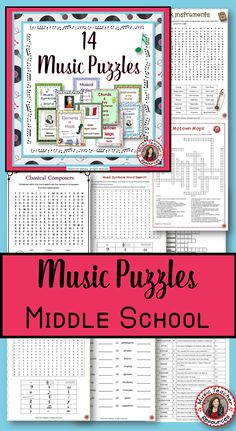 ♫ 14 fantastic puzzles for your music students in One Puzzle Pack. An answer key is provided for each puzzle!   ♫ CLICK through to preview or save for later!   ♫