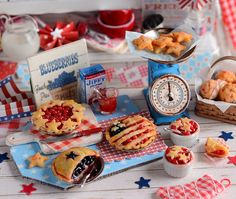 Miniature 4th of July Pies and Cobbler Set by CuteinMiniature