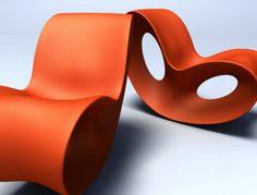 Voido Rocking Chair by Ron Arad: Polyurethane.