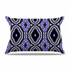 """Dawid Roc """"Inspired By Psychedelic Art 3"""" Purple Abstract Pillow Sham"""