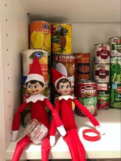 Elves like Nutella too!! Shelf Ideas, Craft Tutorials, Elf On The Shelf, Nutella, Christmas Time, Free Printables, Shelves, Random, Holiday Decor