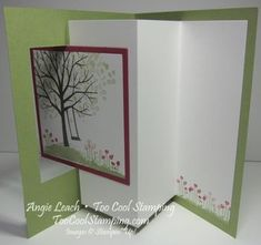 Sheltering tree pop out swing card - tutorial!