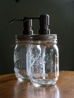 DIY jars # turn your jar into a soap bottle with a pump!