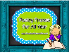 Poetry Frames invite students into the world of poetry. They are simple, unfinished poems that invite students to finish them. They are also a fabulous way to focus on vocabulary and grammar skills!