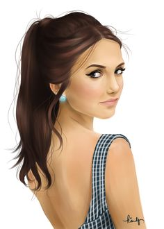 Nina Dobrev by kimpertinent on DeviantArt Amazing Drawings, Beautiful Drawings, Easy Drawings, Easy Pictures To Draw, Simple Pictures, Vampire Diaries Funny, Vampire Diaries The Originals, Best Portraits, Celebrity Portraits