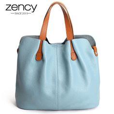 2017 Summer Women Handbag Genuine Leather Tote Shoulder Bag Bucket Ladies Purse Casual Shopping Bag Satchel Capacity Tote Bolsos (32697655990)  SEE MORE  #SuperDeals