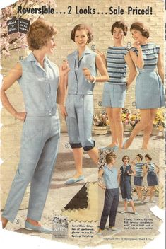 https://flic.kr/p/8p8GyC | montgomery ward summer 1959 catalog | mix n' match reversable fun on sale!  the vestee is only $2.97......