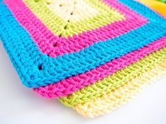 [Video Tutorial] Brighten Up Your Kitchen With These Gorgeous And So Easy To Make Colorful Solid Granny Square Dishcloths - Page 2 of 2 - Knit And Crochet Daily