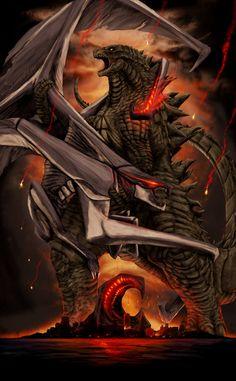GODZILLA: 60th Anniversary Poster by Sean Sumagaysay (Red)