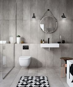 The Geberit concealed cistern is contemporary, innovative and space saving. Toilet And Bathroom Design, Toilet Tiles, Toilet Sink, Wall Mounted Toilet, Bathroom Tile Designs, Toilet Design, Bathroom Trends, Bathroom Interior Design, Bathroom Ideas