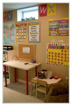 next years school room re do - Designing A Home Preschool Room