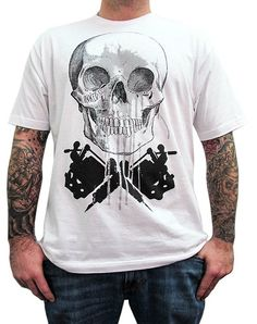 White Skull Machine T-Shirt