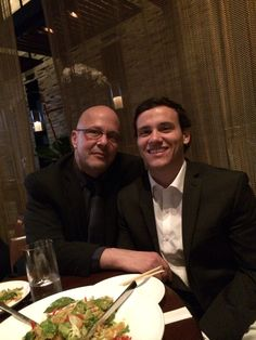 Business dinner with my son and advisor in social media