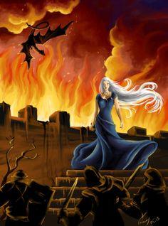 """game of thrones: daenerys targaryen""   vopoha on deviantART"