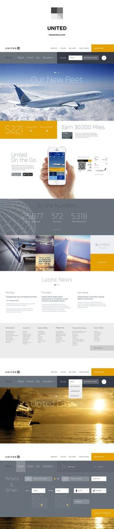(1) United Airlines Website Redesign. | Web_Desing | Pinterest