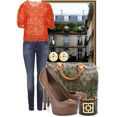 Brunch in the Courtyard, created by ssquared on Polyvore