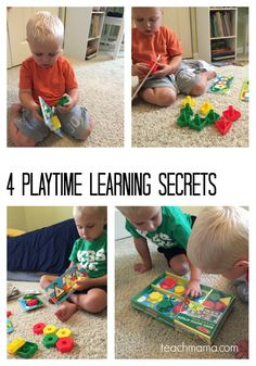 Four of the best-kept secrets for sneaking learning into playtime, any day of the week! Try these things with your kids...