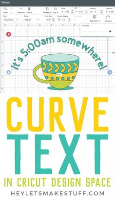 How to Curve Text in Cricut Design Space – New Feature! Want to curve text in Cricut Design Space? Cricut Air 2, Cricut Help, Cricut Vinyl, Cricut Monogram, Vinyl Decals, Tips And Tricks, Café Design, Curve Design, Design Ideas