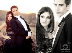 Rustic Glam Engagement Session, in an orchard at sunset    ©Great Heights