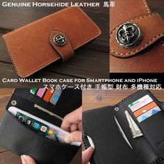 Genuine horsehide leather Card Wallet Book case for Smartphone and Apple iPhone 6/6s/7/Plus WILD HEARTS Leather&Silver (ID sc3323t37)  http://global.rakuten.com/en/store/auc-wildhearts/item/sc3323t37/