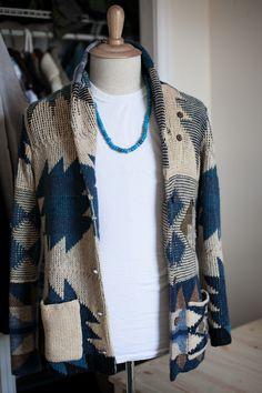 threadandsalt:  adding to the chunky cotton cardigan club. ralph lauren denim & supply.