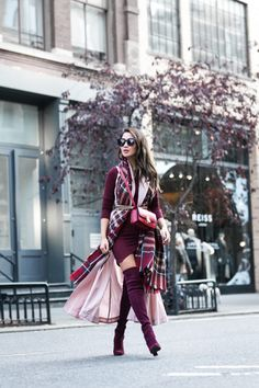 NYC Autumn Colors :: Plaid scarf