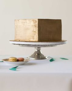 gold cake Photography   Event Design by Rachel Gomez Photography / rachelgomez.com