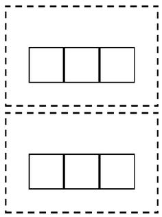 Free printable blank charts free printable blank chart for Elkonin boxes template
