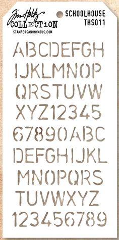 """Tim Holtz Layered Stencil NUMBERED 4x8/""""  THS020"""