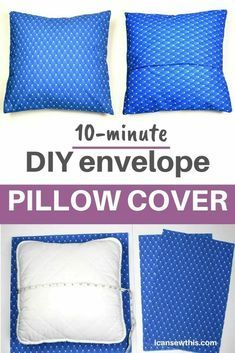 Sewing Pillow Patterns, Pillowcase Pattern, Sewing Pillows, Sewing Pillow Cases, Diy Throw Pillows, Diy Pillow Covers, How To Make Pillows, Cushion Covers, Burlap Pillows