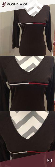 Tommy Hilfiger 3/4 sleeve shirt Brown 3/4 sleeve top by Tommy Hilfiger Tommy Hilfiger Tops