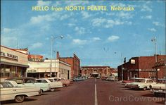 Notice the beautiful North Platte Depot, home of the North Platte Canteen at the end of the street. (Was a beautiful building! Too bad they tore it down. North Platte Nebraska, National Guard, Pearl Harbor, Where The Heart Is, Beautiful Buildings, Small Towns, Life Is Good, Scenery, Old Things