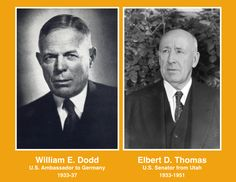 "When two distinguished former professors met at the US Embassy in Berlin on a summer day in 1934, US Ambassador William E. Dodd expressed surprise that Utah Senator Elbert Thomas wished to discuss Mormon missionary work in Germany.  Dodd later wrote in his diary,"" There are other than religious aspects to Hitler's let-up on the Mormons."" See chapter eight to find out why the Mormons, unlike other small American religious sects in Germany, never ran afoul of Adolf Hitler's government. Mormons, University Of Oklahoma, Book Publishing, Summer Days, Professor, Utah, Berlin, How To Find Out, Writer"