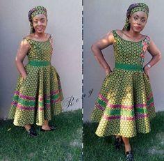 Stunning Shweshwe Dresses 2019 for African Girls – Reny styles – African Fashion Dresses - 2019 Trends African Fashion Skirts, African Fashion Designers, African Print Dresses, African Dresses For Women, African Print Fashion, African Attire, African Outfits, African Wear, Africa Fashion