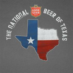 Lone Star Beer Of Texas Charcoal Graphic