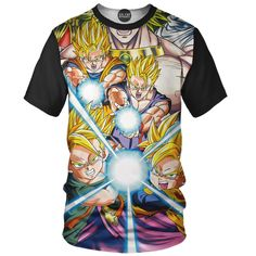 We all know kamehameha as the most famous Dragon Ball Z move. Now you can own an all over print t-shirt with tons of kamehameha going down. Z Moves, Order T Shirts, Boss Shirts, Dbz, Dragon Ball, Mens Tops, Weird, Anime, Products