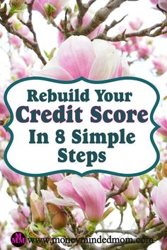 Rebuild Your Credit Score In 8 Simple Steps. Your credit score has an effect on so many aspects of your finances. You really need to improve it if it is not up to par! Ways To Save Money, Money Tips, Money Saving Tips, How To Make Money, What Is Credit Score, Improve Your Credit Score, Rebuilding Credit, Frugal Tips, Budgeting Tips
