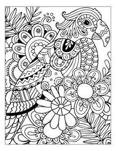 Link Coloring Adult Books Stress Relief Flower And Nature Pattern
