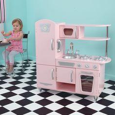 Elegant Kid Kraft Vintage Kitchen Pink