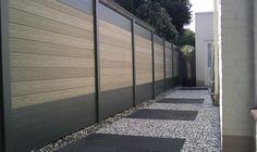 Palissade en bois composite bois et aluminium, vente de kit cloture en bois composite | Deck-Linea