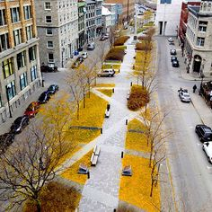 Place d'Youville / urban design / landscape architecture