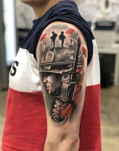 Gregcampbelltattoo based in Bondi Sydney Australia Army Tattoos, Warrior Tattoos, Military Tattoos, Black And Grey Tattoos, Hand Tattoos, Tattoo Black, Tatoos, War Tattoo, Norse Tattoo
