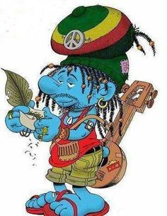 Image result for hippie smurf